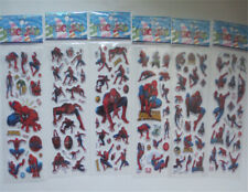 6Pcs/Set Spider Man Cartoon PVC Decal Decor 3D Stereoscopic Stickers