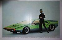 Pubblicità originale d'epoca 1968 advertising ALFA ROMEO CARABO BY BERTONE