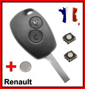 Carcasa de Telemando 2 Botón Renault 1107+2 Interruptores + Llave Virgen
