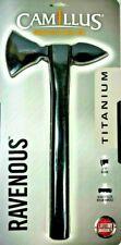 "Camillus Ravenous Tomahawk 13"" Tactical Titanium Blade Bonded Sheath Nylon New"