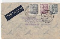 spain  1947 airmail stamps cover ref 19343