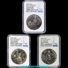 Australia 2017 Norse Goddesses Silver Antiqued High Relief 3 Coins Set NGC PF70!