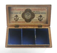 c.1870 Clark & Co Advertising Mauchline Wastwater Spool Holder Sewing Box C88