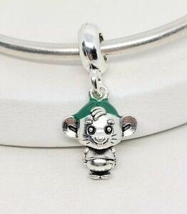 Silver Disney Cinderella Gus Mouse Charm for European Style Charm Bracelets