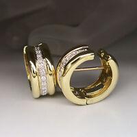 Pomellato Klappcreolen Creolen Ohrringe mit ca. 0,78ct Brillant in 750/18K Gold
