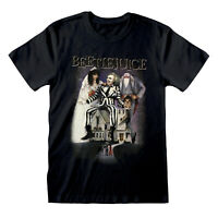Beetlejuice T Shirt OFFICIAL Movie Poster Betelgeuse Ladies Boyfriend Fit SMLXLX