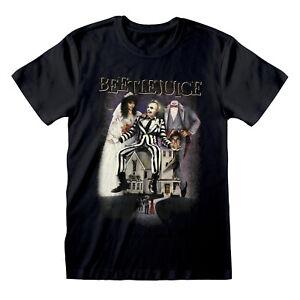 Beetlejuice T Shirt OFFICIAL Movie Poster Tim Burton Betelgeuse Black SMLXLXXL