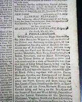 Loss of the USS FROLIC Captured by HMS Orpheus Cuba War of 1812 1814 Newspaper
