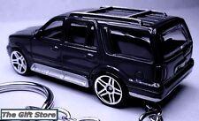 RARE!! NEW KEY CHAIN BLACK LINCOLN NAVIGATOR/AVIATOR SUV LIMITED EDITION CUSTOM