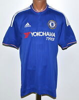 CHELSEA LONDON 2015/2016 HOME FOOTBALL SHIRT JERSEY ADIDAS SIZE L ADULT
