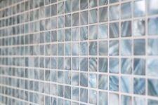 Mosaïque carreau bleu-gris cuisine bain miroir tuiles 150-SM2582_b | 1 plaque
