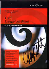 DVD Cheryl STUDER Signed VERDI I VESPRI SICILIANI Giorgio Zancanaro Merritt MUTI