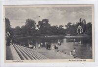 Ansichtskarte Magdeburg - Am Adolf-Mittag-See mit Kindergruppe - 1931 - s/w