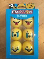 Emotion Emoji Novelty Fun Golf Balls - 6 Pack