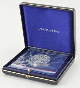 1983 France 100 Francs The Grateful Homeland Silver Proof With Display Box *565