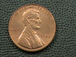 UNITED STATES 1 Cent 1982 UNC COPPER LARGE COMBINED SHIP 10 Cents USA .29 INT