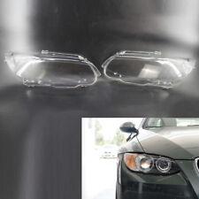 2Pcs Auto Headlight Lens Cover fit for BMW 3 E92 Coupe E93 Cabrio Pair 328i