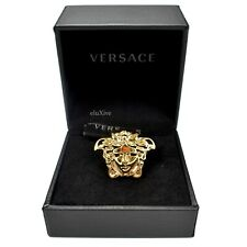 NWT $425 VERSACE Gold Large Palazzo Medusa Logo Ring Men's Women's 13 AUTHENTIC