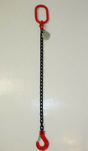 1-Strang Kettengehänge Anschlagkette Krankette 2,0 to, 1- 6 Meter + Verkürzung