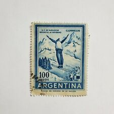 Ski Mountain Sport Argentina 1955 Stamp
