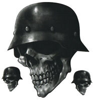 Adhesive Set Skull Biker From the Hell From Pale Sticker Skull Sticker Helmet