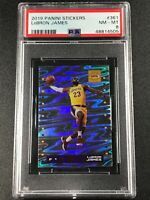 LEBRON JAMES 2019 PANINI STICKERS #361 HOLOFOIL NM-MINT PSA 8 LAKERS NBA