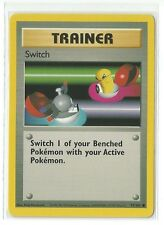 Pokemon Base set common Switch Trainer 95/102 Near Mint condition