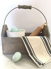 Rustic Farmhouse Wood Tote-Tool Box-Container- Garden Caddy