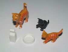 Playmobil Accessoire Décor Animal Lot Chat Roux + 2 Chatons & Accessoires NEUF