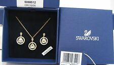 Swarovski Backstage Round Set Pendant/Earrings Gold-Plated Authentic - 5098512