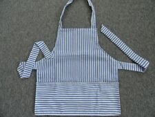CHILDS APRON BOYS IN BLUE STRIPE SIZE 5-6-7