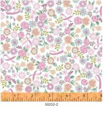 Pink /& Green Sunshine Seranade Flowers Floral Quilting Fabric by Yard  #542