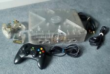 Xbox CRYSTAL upgraded 320GB 9000+ gaming console bundle wireless controller