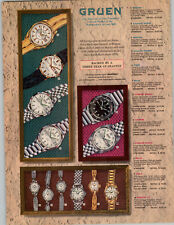 1971 PAPER AD 2 PG Gruen Wrist Watch Incabloc Autowind Taurus 25 Jewel Porter