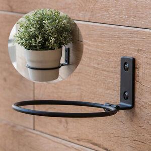 1 Set Wall Mounted Ceramic+Iron Planter Pot Flower Flowerpot Home Decor