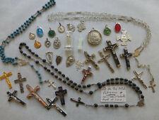 PROMO  lot de 34 articles religieux divers Saints Chapelet CROIX Medaille Statue