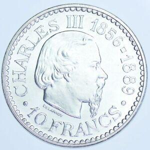 10 FRANCS ARGENT MONACO 1966 SPL