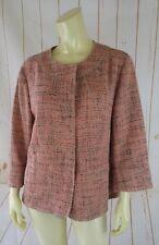 J Jill Blazer L Salmon Tweedlike Unlined Snap Front Acrylic Cotton Blend Pockets
