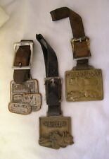 CATERPILLAR POCKETWATCH FOB COLLECTION OF THREE FOBS