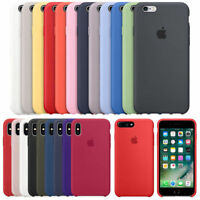 Funda para Apple iPhone X 8 7 6S Plus Original carcasas de Silicona Duro Genuina