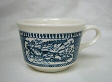 Currier and Ives Unusual Shape Size Coffee Cup by Royal China