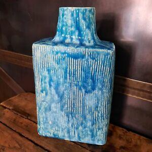 Pied de Lampe Céramique Emaillé Turquoise Scarifié - Ceramic Lamp