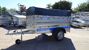 CAR CAMPING TRAILER CLASS 750KG WITH HIGH SIDES AND CANVAS COVER 6X4 TRAILER