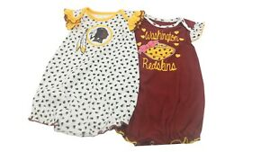 NFL Washington Redskins Merchandise Infant Girls 2 Piece Creeper Bodysuit NEW