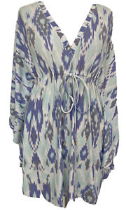 Designer Melissa Odabash Short Stretchy Kaftan Dress Top Beach Coverup One Size