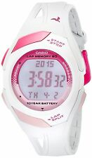 Casio Sports Digital Waterproof Watch LED light Alarms Running Meter - White