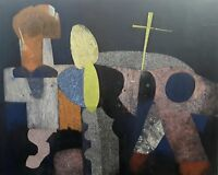Large Contemporary Modern Abstract Original Cubist Painting on Canvas