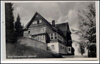 Oberwiesenthal Sachsen DDR Ansichtskarte ~1954 gelaufen Partie am Eschenhof