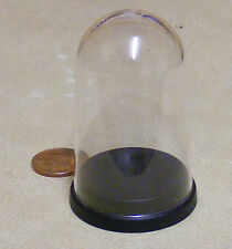 1:12 Plastic Dome With Black Plastic Base Dolls House Miniature Accessory Large