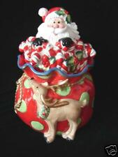 New in Box Fitz and  Floyd Kringle Santa Cookie Jar ~ Great Christmas Gift